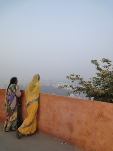 Girl in yellow sari, Udaipur, 2013