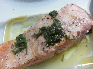 Lemon dill butter salmon, the winner so far!