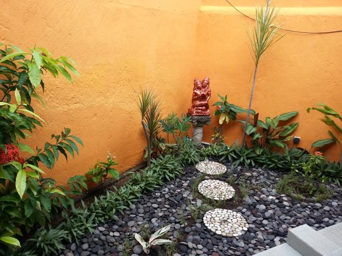 The outdoor garden bathroom